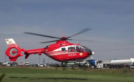 Probleme pentru un elicopter SMURD. Pilotul, nevoit să oprească un motor
