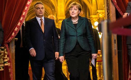 Angela Merkel si Viktor Orban