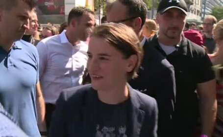 Premierul Serbiei, Ana Brnabic, a participat la parada gay din Serbia