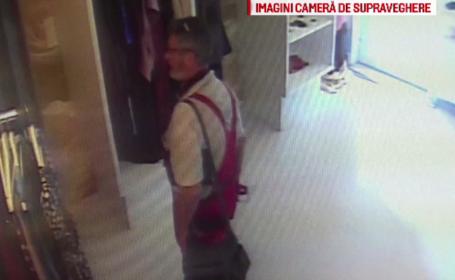 Cum a fost filmat acest bărbat în Târgoviște. Polițiștii îl caută
