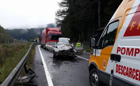 DN1, blocat la ieşirea din Azuga după un accident