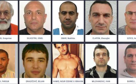 Patru români, printre mai căutaţi infractori din Europa. Lista \