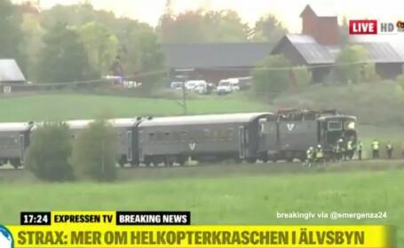 Un tren a lovit un vehicul blindat în timpul unui exercițiu militar în Suedia. Sunt 4 răniți