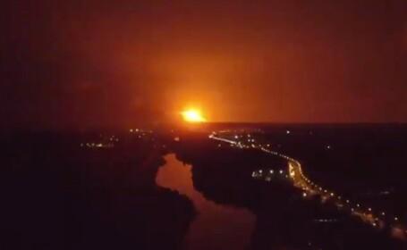 VIDEO Explozii la un depozit de muniție din Ucraina. \