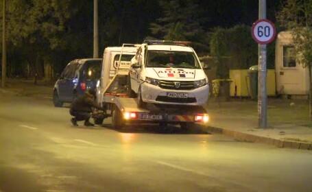 Accident cu polițiști. Mașina unui echipaj de la secția 2, lovită în intersecție