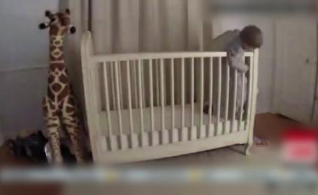 Cum a reușit un tată să-și salveze băiețelul care voia să sară din pătuț