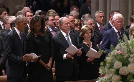 Americanii și-au luat adio de la John McCain. Politicieni celebri au participat la funeralii