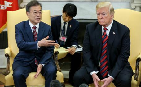 Donald Trump și Moon Jae-in vor să abordeze subiectul Coreei de Nord, la Adunarea Generală a ONU