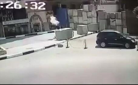 Momentul în care un egiptean a căzut la pământ într-o tentativă de atentat