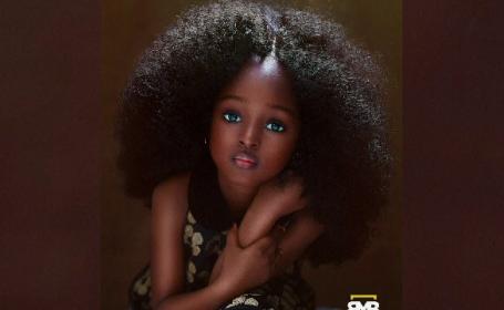 """Fetița catalogată drept """"cea mai frumoasă din lume"""". Unii au crezut că e creată pe calculator"""