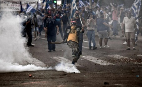 Protest la Salonic