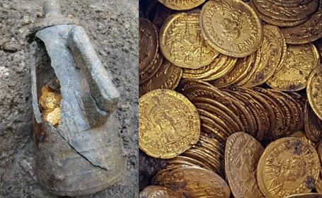 monede de aur gasite in Italia