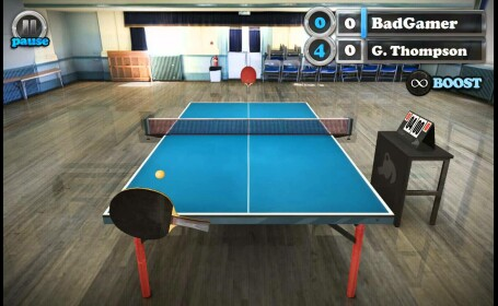 tennis table touch
