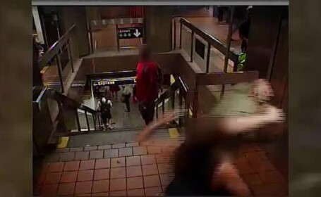 Reacţia unei femei, când un bărbat a început să o pipăie în metrou
