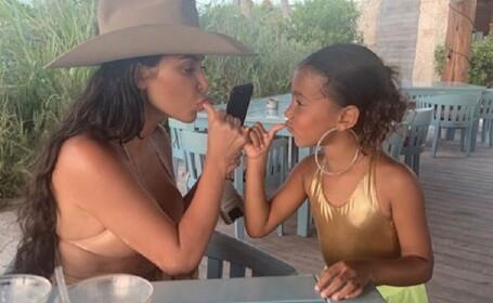 Kim Kardashian si fiica ei, North