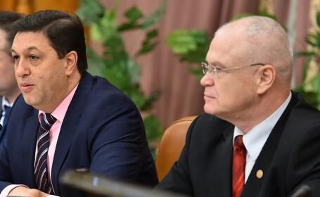 Senatorul Nicolae Serban si deputatul Eugen Nicolicea