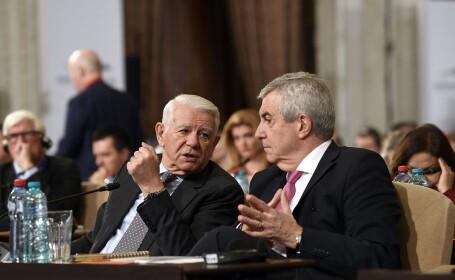 Teodor Melescanu si Calin Popescu-Tariceanu
