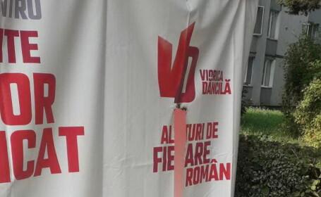 Cortul de campanie al Vioricăi Dăncilă din Brașov a fost vandalizat