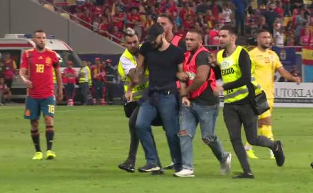 Incidente la meciul cu Spania