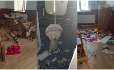 Indignare după vandalizarea școlii din Clejani