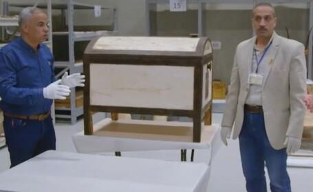 Misterul din interiorul mormântului lui Tutankhamon. Descoperirea a fost filmată