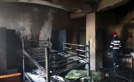 Incendiu la cantina de ajutor social din Târgovişte
