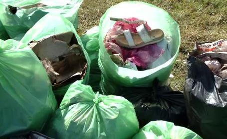 Let\'s do it, România! Voluntarii au strâns zeci de saci de gunoaie