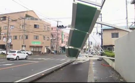 Dezastrul lăsat în urmă de taifunul Tapah: zeci de răniți și inundații masive