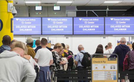 Falimentul Thomas Cook: sute de mii de turişti, blocaţi în staţiuni şi aeroporturi.