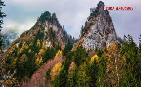 Imagini de vis la munte. Turiștii, încântați de priveliștile oferite de toamnă