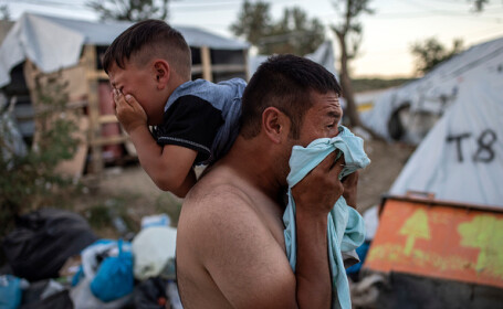 Violențe într-o tabără de refugiați din Grecia - 8