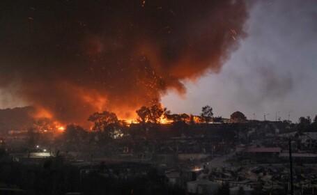 Nou incendiu în tabăra de refugiaţi Moria de pe insula grecească Lesbos