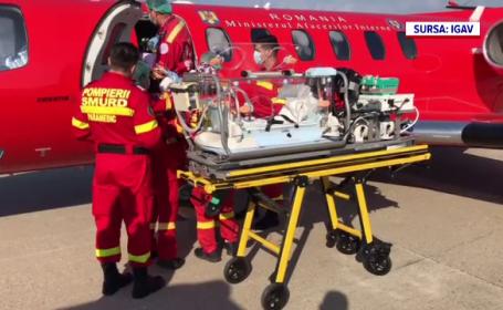 Bebeluș transportat la o clinică din Milano