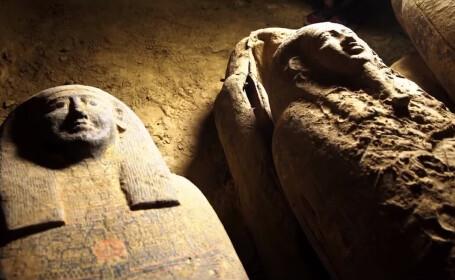 Arheologii au descoperit 13 sicrie misterioase într-o fântână din Egipt. Ce se află în ele. VIDEO - 4