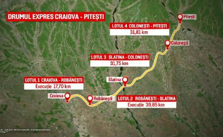 Contractul pentru ultimele tronsoane ale drumului expres Piteşti-Craiova, semnat miercuri