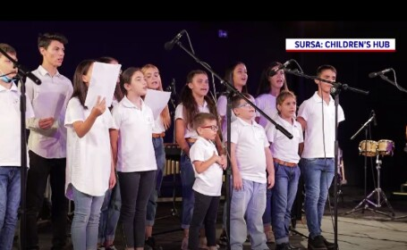 Spectacol caritabil susținut de copiii unui centru de plasament din Capitală