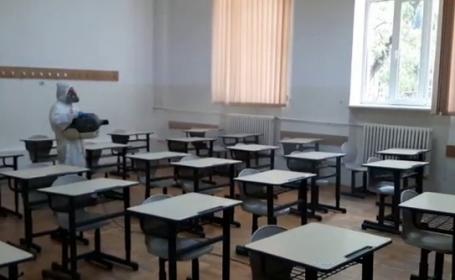 Sală de clasă dezinfectată