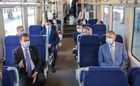 Klaus Iohannis, Ludovic Orban, tren