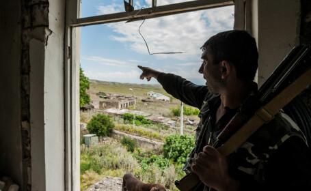 Soldat în Nagorno-Karabah