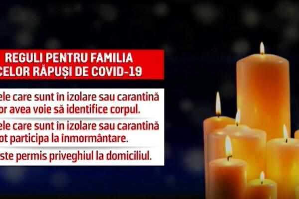Reguli noi pentru rudele celor răpuși de Covid-19. Nu poți merge la înmormântare, dacă ești în izolare