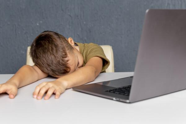 scoala online, baiat