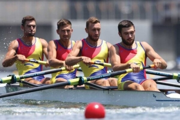 Jocurile Olimpice de la Tokyo. Echipajul masculin de patru rame al României a câștigat medalia de argint