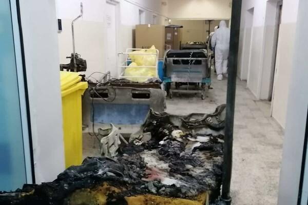 Incendiu violent la Spitalul Judeţean Piatra Neamţ