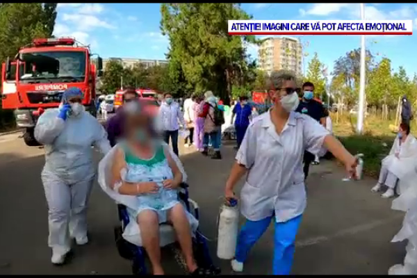 Filmul incendiului de la Spitalul de Boli Infecțioase Constanța. Șapte pacienți și-au pierdut viața