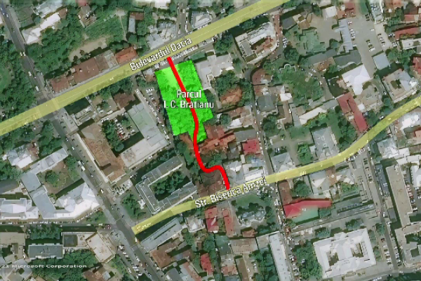 Un nou traseu pietonal în Centrul Bucureștiului. Parcul și așezămintele I.C. Brătianu, redeschide pentru public