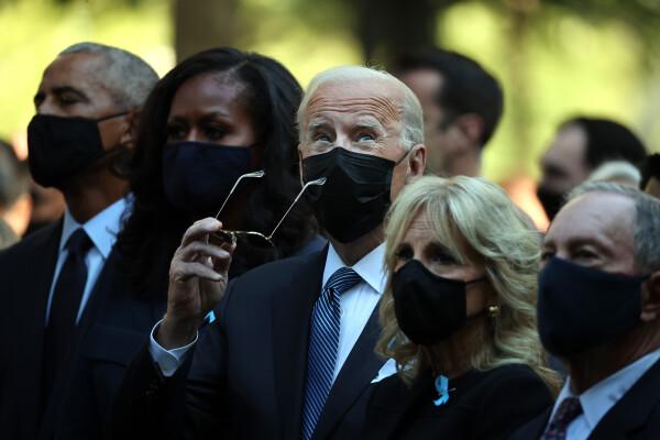 Ceremonia de comemorare a atentatelor de la 11 septembrie 2001 de la New York, prezidată de Joe Biden