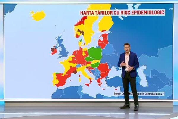 România, prima în topul țărilor cu cele mai multe infectări din Europa. A intrat pe lista roșie