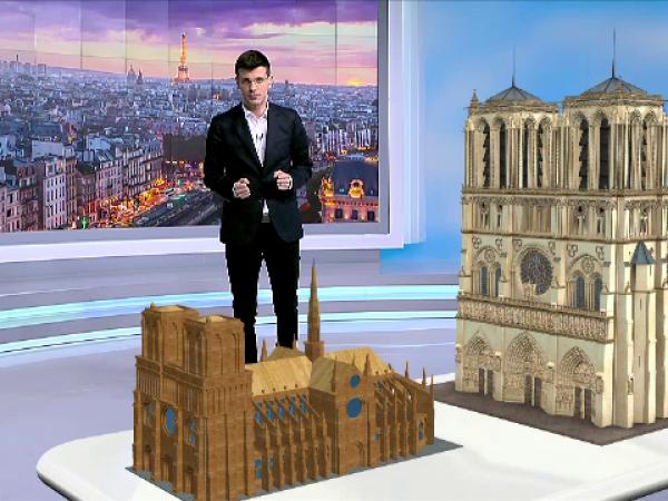 animatie grafica Notre Dame