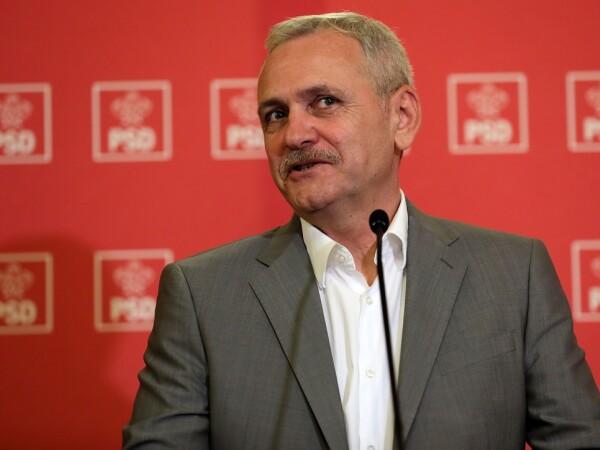 Presedintele PSD, Liviu Dragnea, face declaratii de presa la finalul sedintei Comitetului Executiv al PSD,