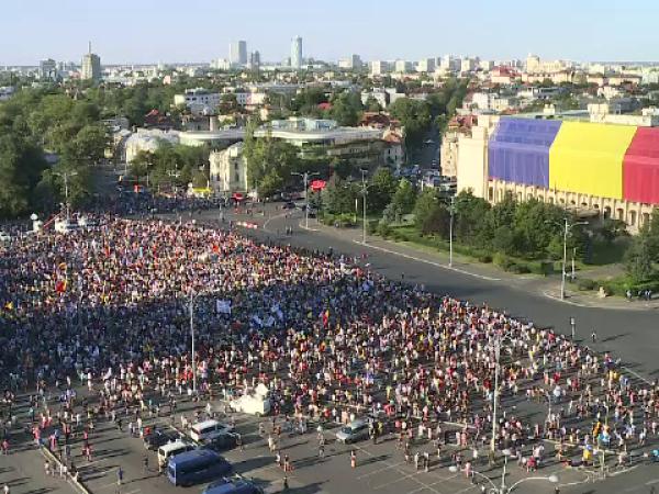 Protest in Piata Victoriei 10 august